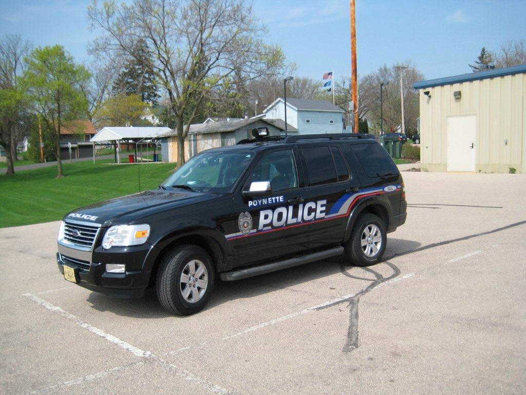 A Poynette Police Department truck